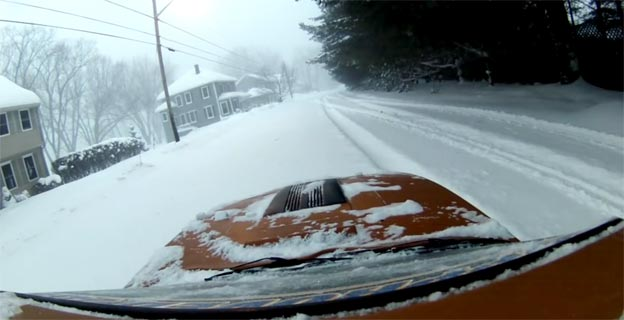 Braving The 2015 blizzard In A Saab Sonett!