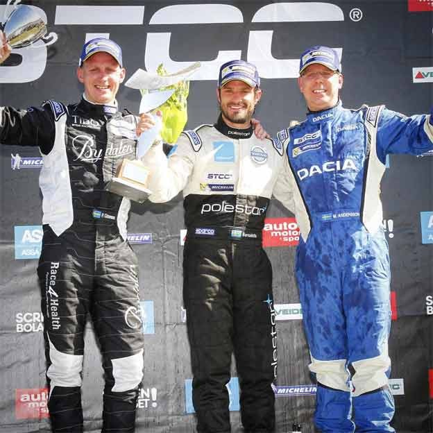 STCC podium for Saab 9-3 at Falkenberg
