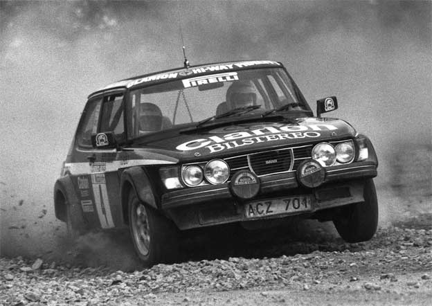 Blomqvist in the Saab 99 Turbo (Hunsrück-Rallye 1980)