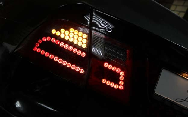 Custom LED tail lights for Saab