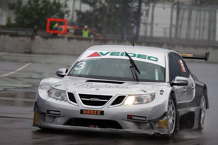 "STCC: Jan ""Flash"" Nilsson has tested a Saab 9-3 for Team Tidö"