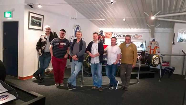 The Scottish Saab Enthusiasts club members at David Coulthard Museum
