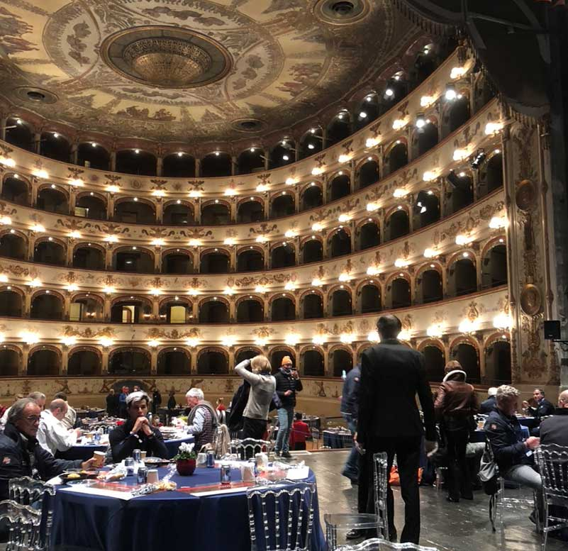 What an experience: dinner on the first day at the Teatro Comunale di Ferrara