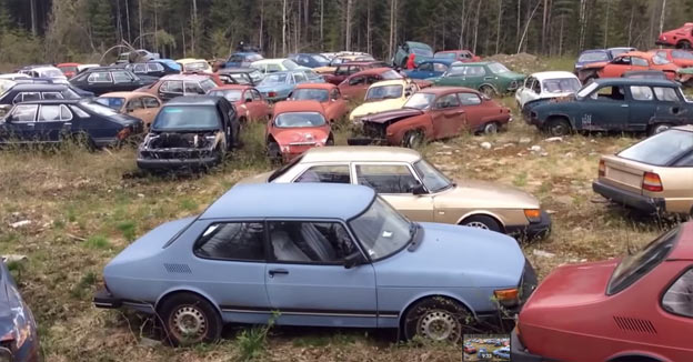 the biggest secret collector of Saab cars