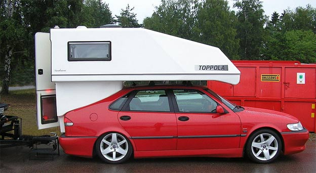 The Saab Toppola compact camper