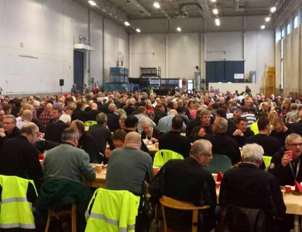 Last week, a Christmas breakfast in production for 500 employees, Trollhatten.