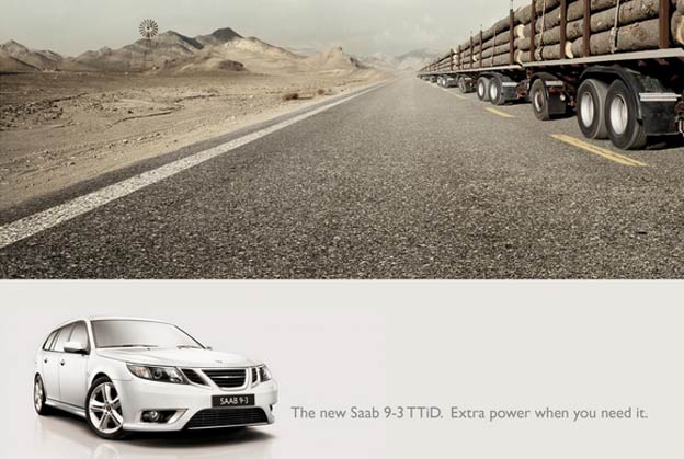 Ads for Saab 9-3 TTiD 6