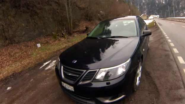 Saab 9-3 Turbo X Sound and Acceleration