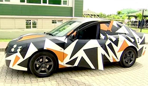 Turkish EV test car based on Saab 9-3