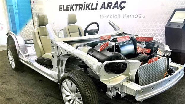 Turkish domestic car based on Saab 9-3 EV