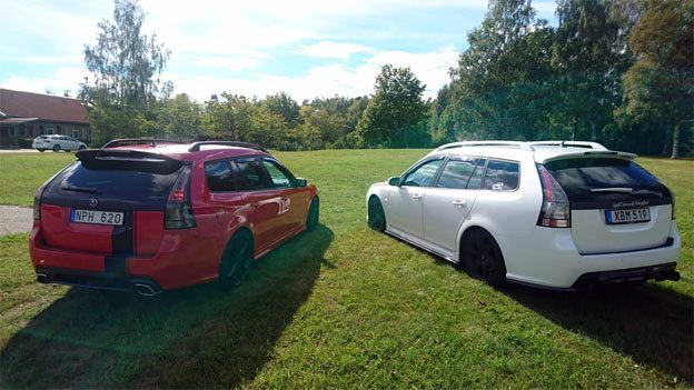 Two Beautiful Saab 9-3 Sportcombis