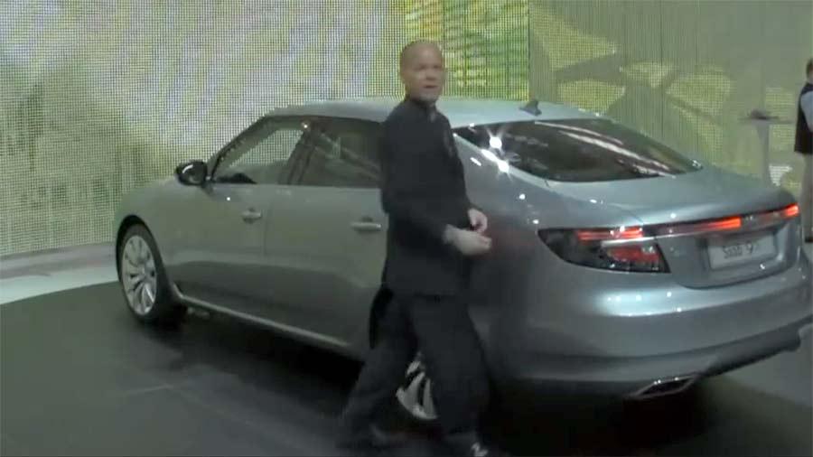 Simon Padian - New Saab 9-5 Design review at IAA Frankfurt 2009