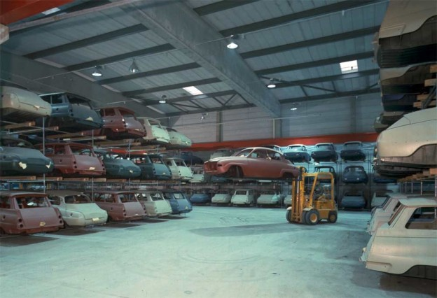 chassis warehouse in the company Valmet Automotive