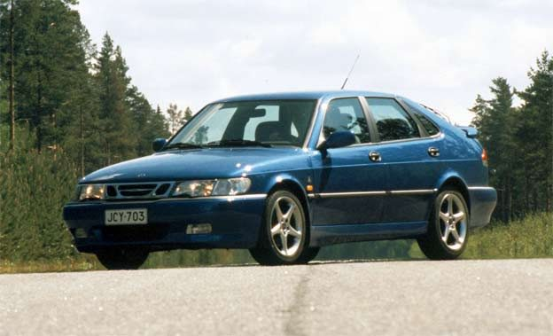 The fastest Saab of its time, the Viggen, pictured on the Uusikaupunki plant test track