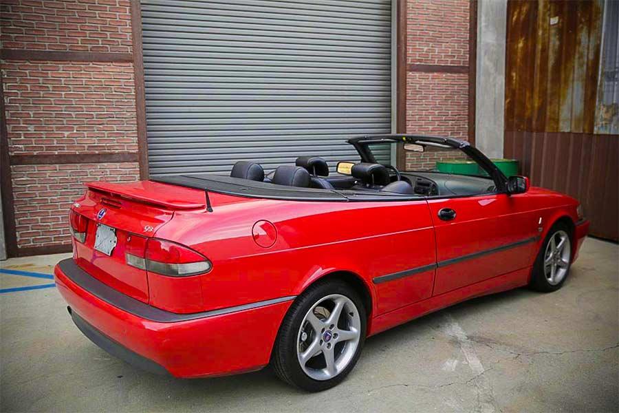 Laser Red Saab Viggen Convertible