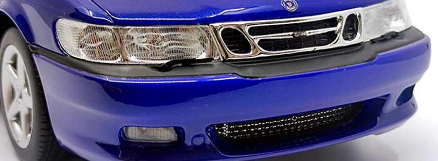 Viggen detail - etched perforated front grill with a visible intercooler